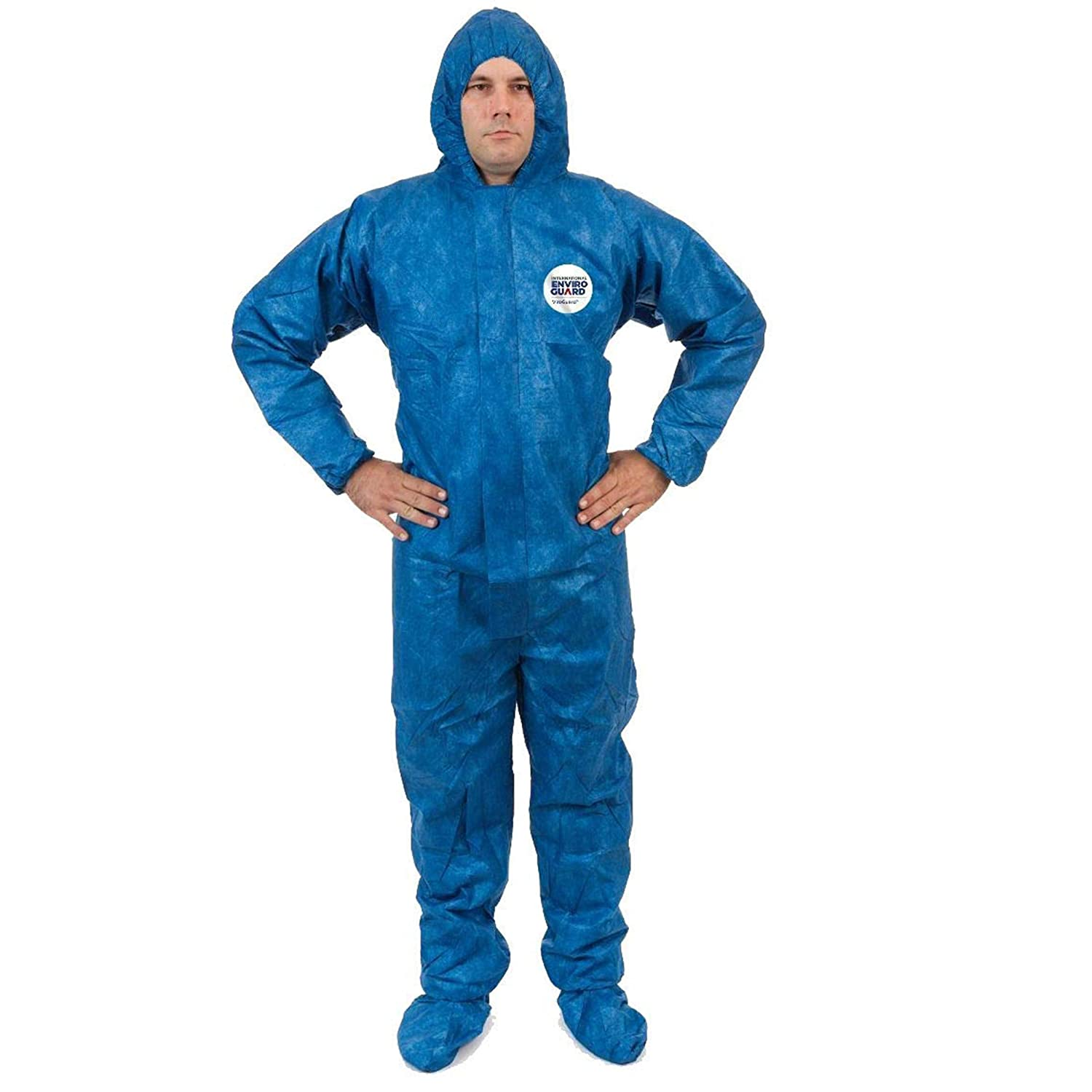 and Cleaning ViroGuard Disposable Coveralls Biohazard Suit with Hood Comfortable Full Body Splash Suit Hazmat Protection for Medical 3XL, Elastic Wrist, Hood /& Boots Chemical Case of 25