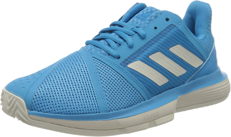 adidas Women's Court Jam Bounce Clay Sandplatzschuh Damen-Hellblau, Weiß  Tennis Shoes