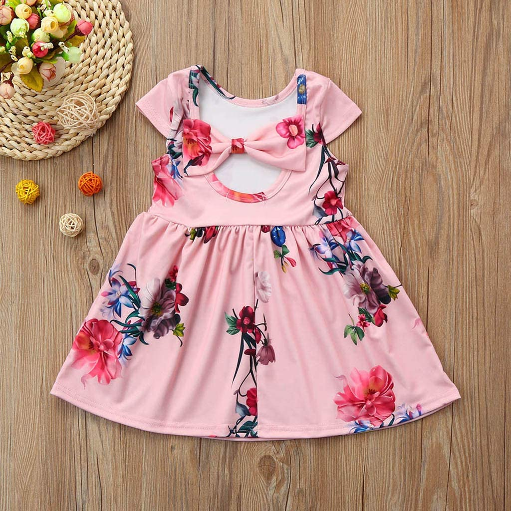 Fartido Romper Baby Girl Ruffles Sleeve Half-Sleeve Solid Clothes Outfits
