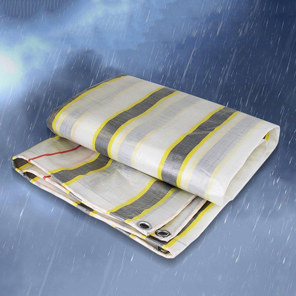 AJZXHE Tarpaulin regendichte Sonnenschutz Auto Plane doppelseitige Wasserdichte Wasserdichte doppelseitige Fracht Staub Tuch hohe Temperatur Anti-Aging, Streifen -Plane eb6674