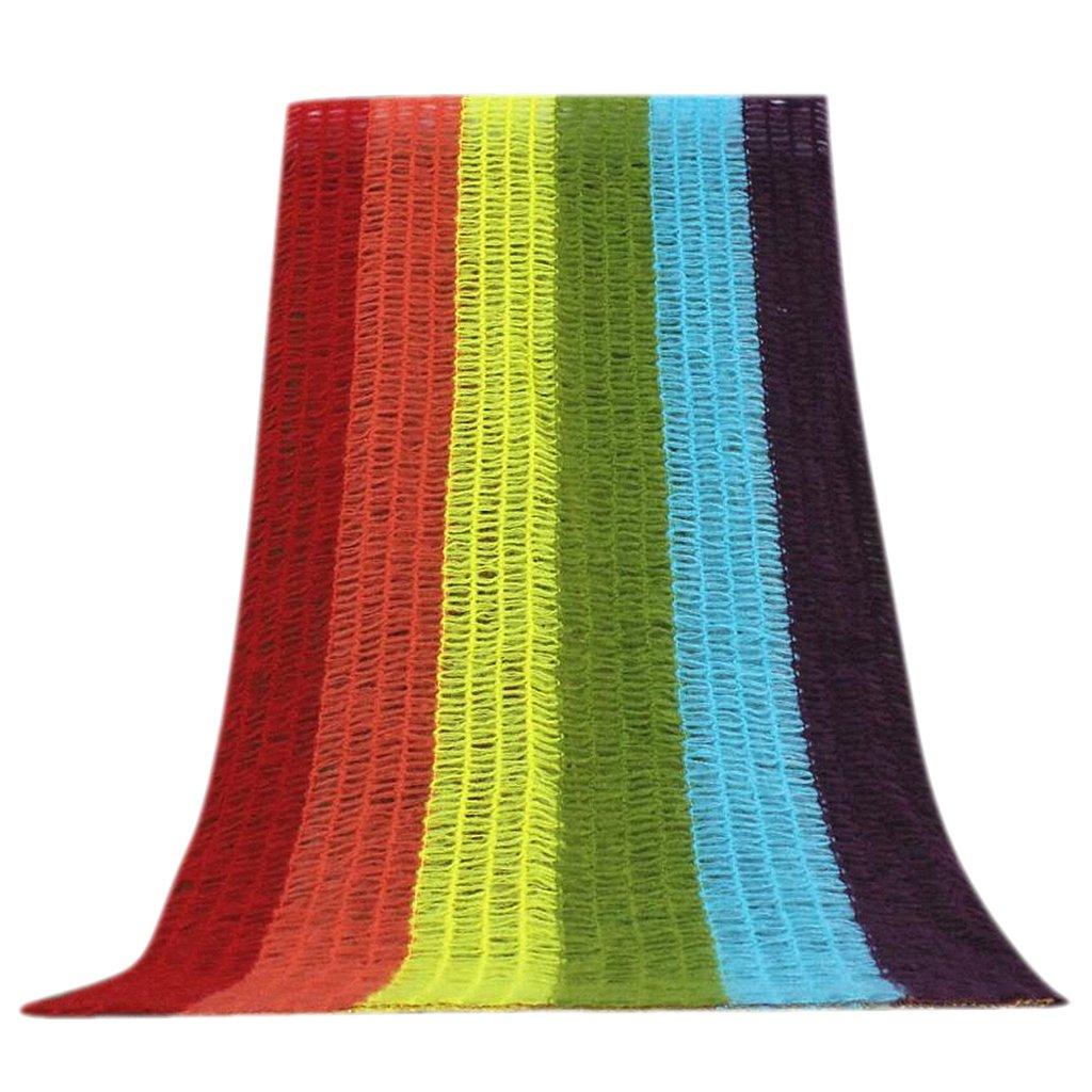 Fenteer DIY Newborn Baby Photography Wrap Crochet Photo Prop Blanket Rainbow