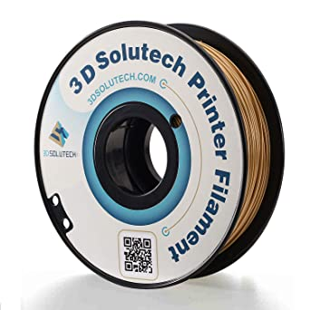 Filamento para impresi/ón 3D PLA dorado, 1,75 mm, 10 m 3DW
