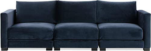 Poly and Bark Shelby Modular Sofa in Oxford Blue