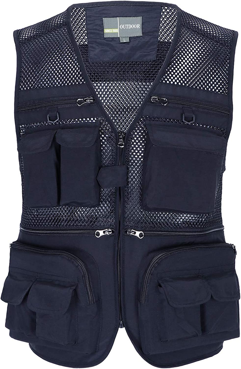 OlyljpinZ Mens Summer Casual Outdoor Work Fishing Travel Photo Vest with Pockets