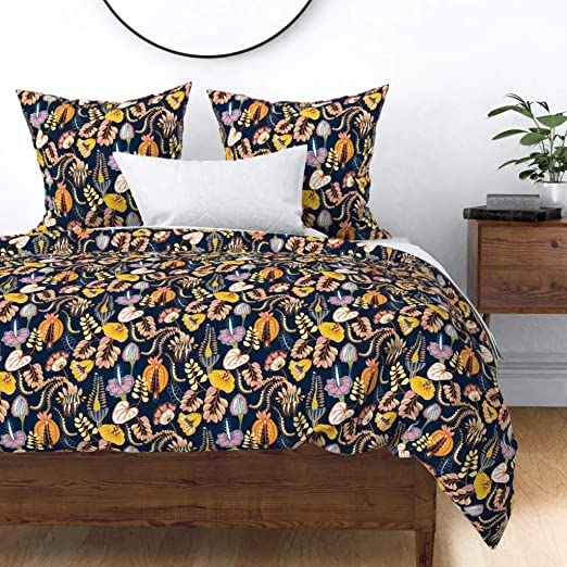 Amazon Com Roostery Tropical Leaves Duvet Cover Summer Tropic