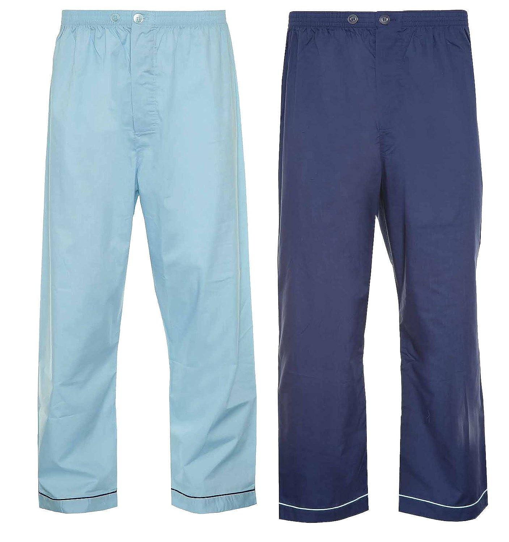 Pantalones pijama de algodón para hombre, 2 unidades Azul Azul ...