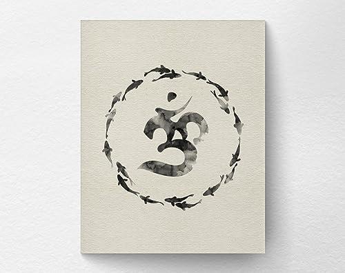 Amazon.com: Zen Om Yoga Art Print Poster Wall Decor, Om ...