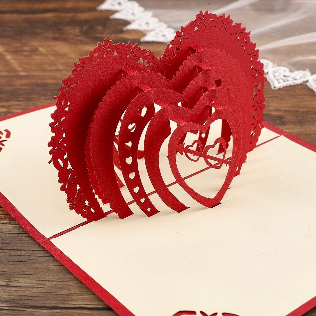 Sethexy 3D día de San Valentín Tarjetas de felicitación Invitación de boda Surgir Amor Romántico Confesión Aniversario Regalo de cumpleaños para novia Novio Esposa Marido Amigos Familia