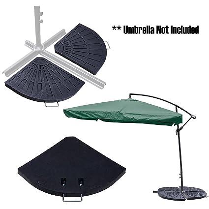 Koval Inc. Outdoor Patio Umbrella Base (Fan Shape Base)