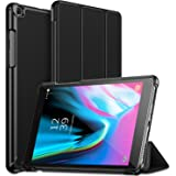 ABOUTTHEFIT Anti Slip Shock-Absorption Lightweight Slim Trifold SM-T290/T295 Model Stand Protective Cover for Samsung Galaxy Tab A 8.0 2019 (Black)