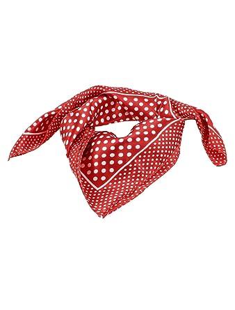 340c4f39f2a Sourcingmap - Foulard Femme Fille En Polyester Motif Rouge Pois Blanc -  Rouge
