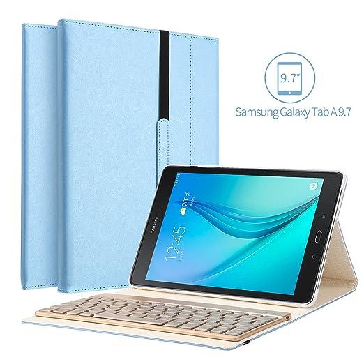 5 opinioni per Samsung Galaxy Tab 9.7 Un caso tastiera, KVAGO 7 colori retroilluminato