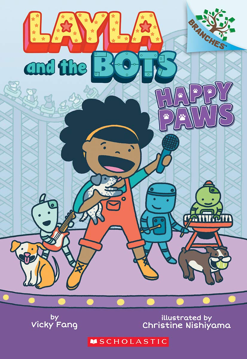 Amazon.com: Happy Paws: A Branches Book (Layla and the Bots ...