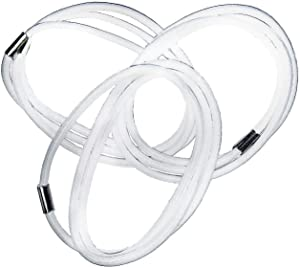 INTELLECTDOOR Trash Can Bands/Sets of 3/White