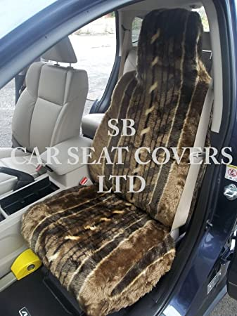 To Fit A Nissan Pathfinder, Car Seat Covers, Nutmeg Stripe Faux Fur, Full