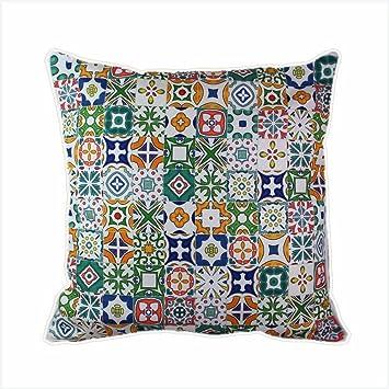 Carrelage mosaïque espagnol marocain Housses de coussin - Arabesque ...