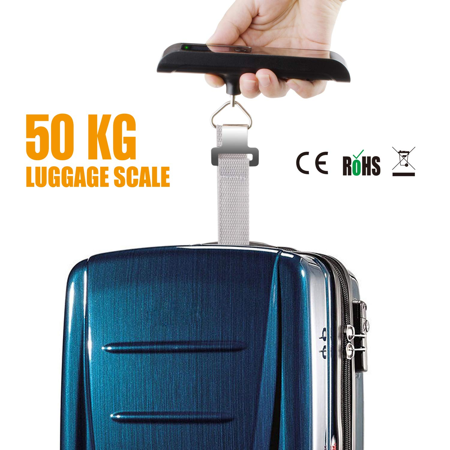 Lifede Luggage Scale,Digital Scale, Manual weight Scale,High Precision,Ultra Portable Scale, Hanging Scale,110lb/50kg,Suitcase Scale for Travel,Household,Outdoor and Gifts,Black by LIFEDE (Image #5)