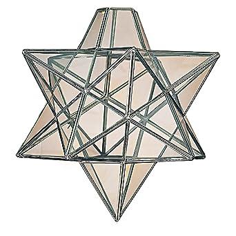Moravian star clear glass chrome ceiling light shade pendant amazon moravian star clear glass chrome ceiling light shade pendant amazon lighting aloadofball Images