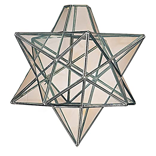 Moravian star clear glass chrome ceiling light shade pendant amazon moravian star clear glass chrome ceiling light shade pendant aloadofball Gallery