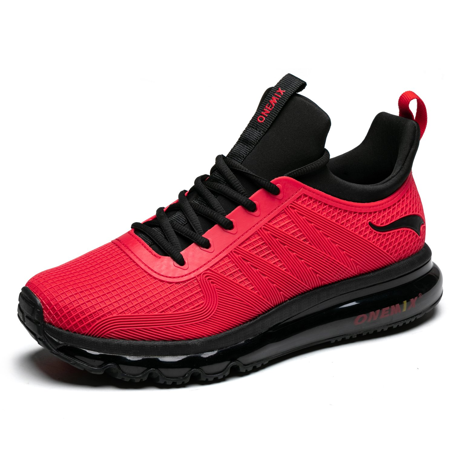 ONEMIX Running Shoes Breathable Air Cushion Sports Shoes Lightweight Outdoor Sneakers for Men and Women B07DZL1MZ9 Men 8.0D(M)US=10.23inch|Red