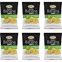 Grace Salted Green Banana Chips 2.5oz - Bananitos Verdes, Non-GMO, Gluten Free, No Trans Fat (6 Packs)