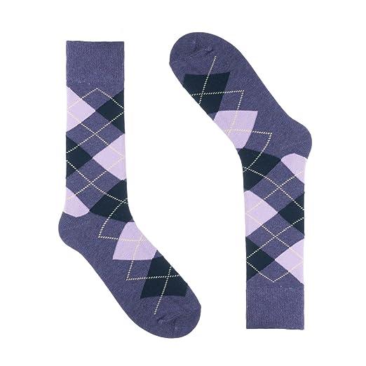 00399de89176 Ivory + Mason Argyle Socks for Men - Dress Sock - Colorful - Purple ...