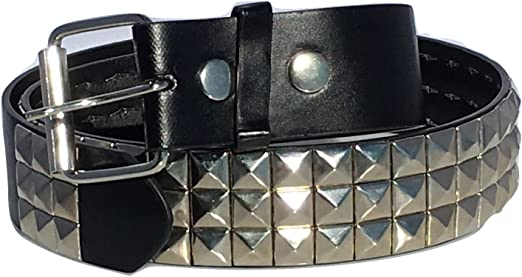 Metal Mens Cross Black Leather Gothic Style Handcrafted Belt Punk Goth S-M-L-XL