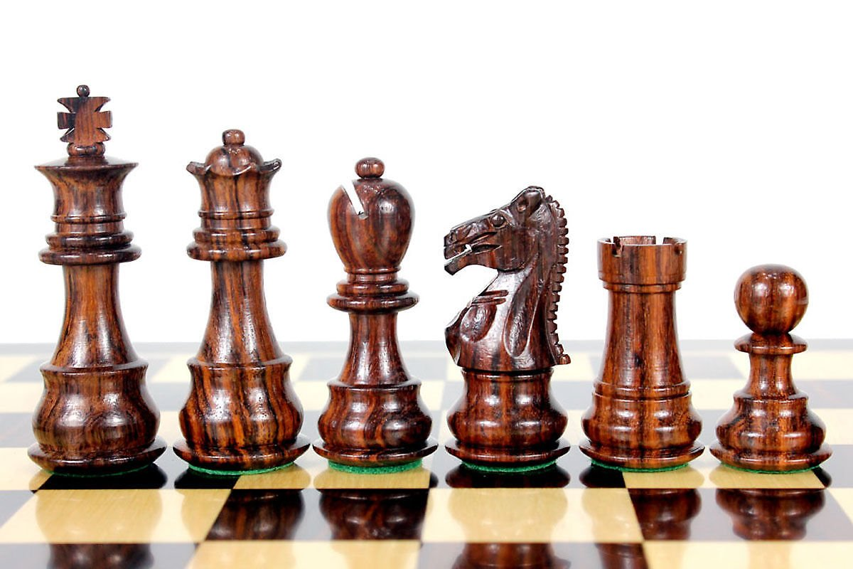 House of Chess - Rosewood Galaxy Staunton Wooden Chess Set Pieces King size 3'' Triple Weighted