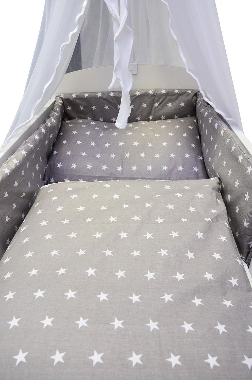 Decke und Kissen 11-TLG Eulen blau 8 Design Best For Kids Komplettset Babybett 60x120 cm mit Bettw/äsche inkl