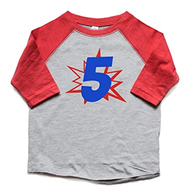 Amazon 5th Birthday Shirt Superhero Boy Or Girl 5 Bday Tee Trendy Fifth Five Tshirt Kids Clothing