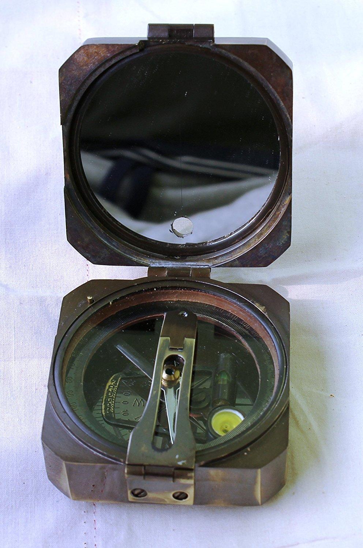 Hello Nauticals Storeケルビン&ヒューズ自然正弦Brunton 1917コンパス真鍮マイニングCompasses、真鍮ポケットコンパスアウトドアナビゲーションツール。00fd   B07D4C1LX7