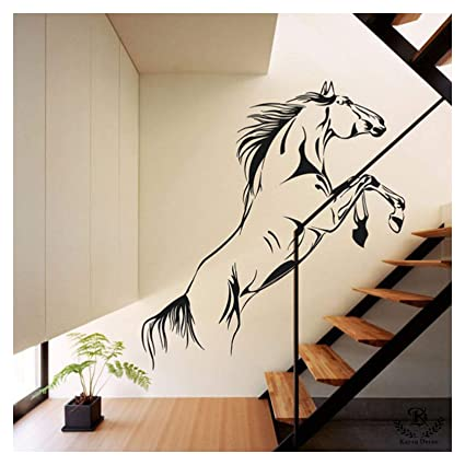Kayra Decor Plastic Sheet Running Horse Reusable Wall Stencil, 50x55-inches (Multicolour)