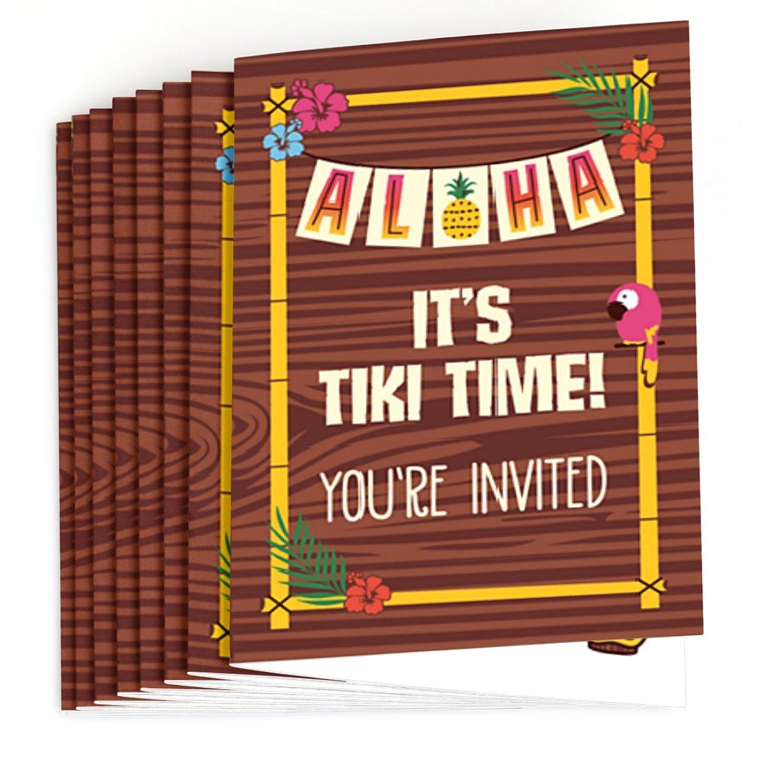 Amazon.com: Big Dot of Happiness Tiki Luau - Fill In Tropical ...