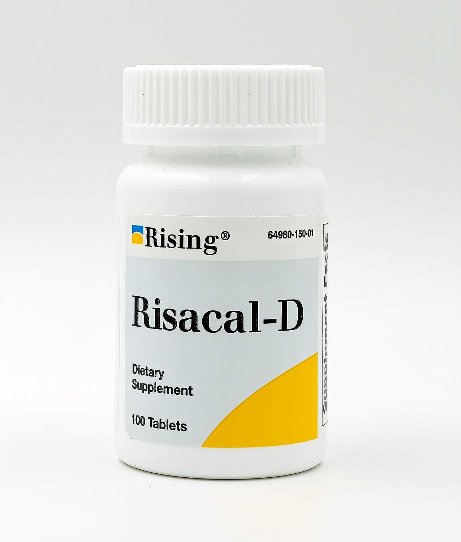 Rising Pharma - Risacal-d - Vitamin D3 & Calcium Supplement - 100 tablets