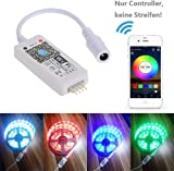 Tomshine Wifi LED Controller DC5-28V Mini RGB Smart Working with Alexa Android/IOS Mobile Phone App 16 Million Colors 20 Dynamic Modes Sound Activated Static Color Changing for LED Strip Light