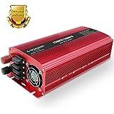 LVYUAN LED 定格1500W(最大3000W)インバーターDC(直流)12V 60Hz AC(交流)100V [ソーラーパネル、ソーラー発電、太陽光発電にぴったり!]外部ヒューズ×4、ACコンセント×2、USBソケット×2 日本語説明書付き!