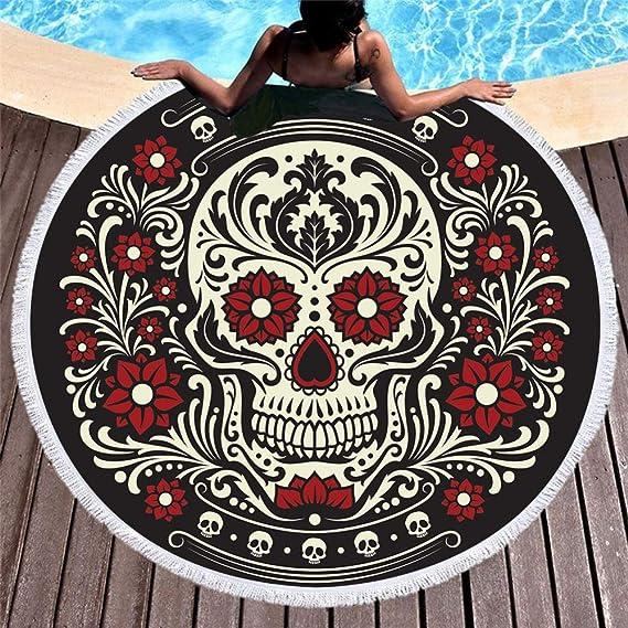 acheter serviette tete de mort online 14