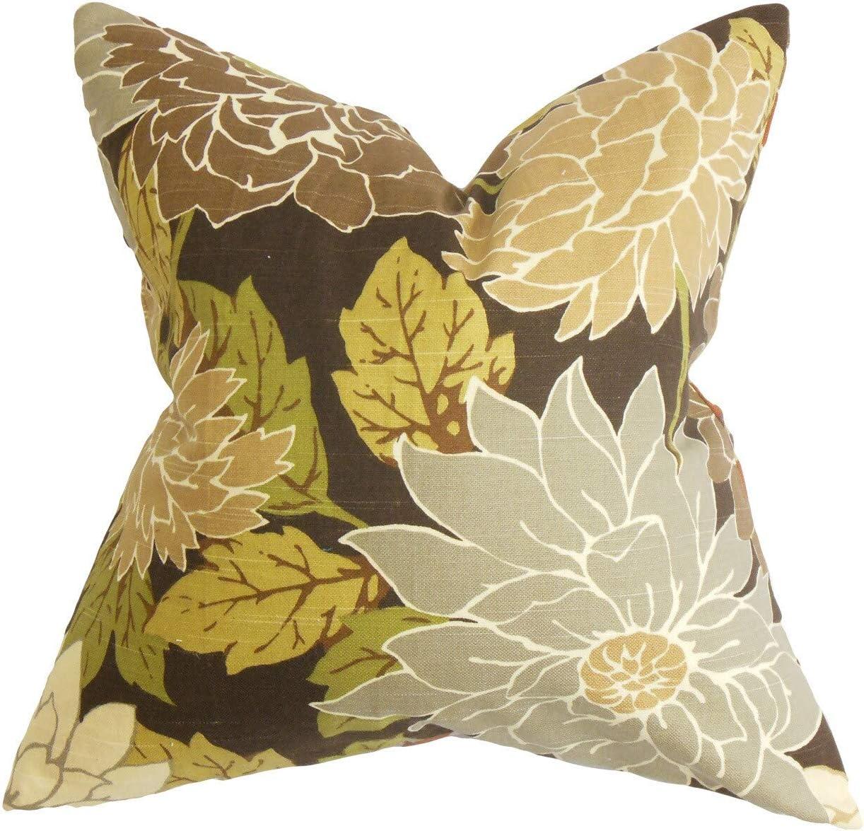 The Pillow Collection Kerensa Floral Throw Pillow Cover