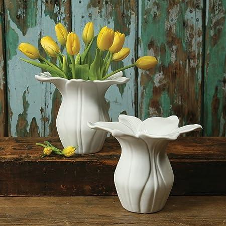 Daffodil Vase Porcelain Amazon Kitchen Home