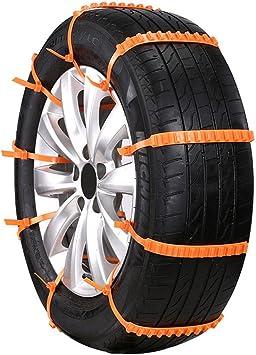 Suv Auto-Styling Anti-Skid Autocross im Freien KKmoon 5pcs Los Auto Universal Tyres Chains Mini Plastikwinter Erm/üdet R/äder Schneeketten f/ür Autos