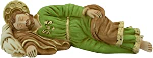Sleeping Saint Joseph Statue | Patron Saint of The Universal Church, Unborn Children, Fathers, Workers, Travelers, Immigrants, and a Happy Death | 8 Inches Long | Christian Home Decor