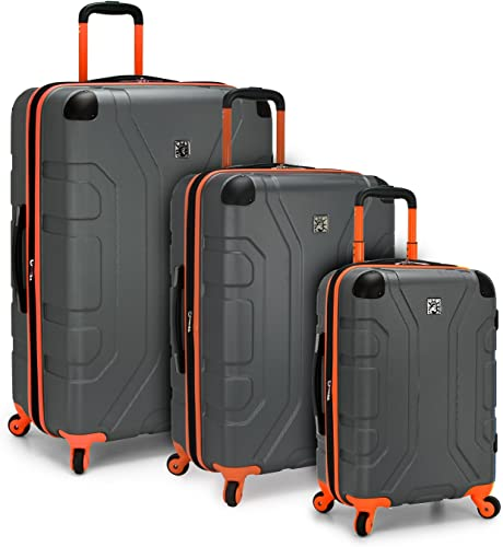 U.S. Traveler Sky High Expandable Hardside Spinner Luggage, Grey, 3-Piece Set 22 26 29