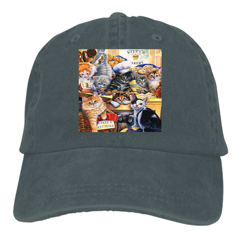 Unisex Cat World Washed Cotton Baseball Cap Vintage Adjustable Dad Hat