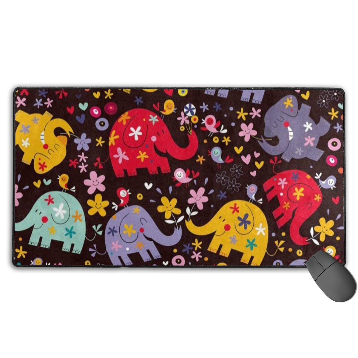 大型マウスパッド カラートル海洋 滑り止めゴムマウスパッド ゲームパッド 29.5x15.7インチ one size B07L7CD21Q パターン1