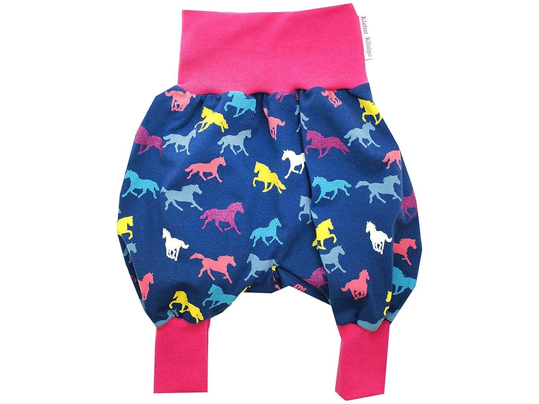 Kleine K/önige Pumphose Baby M/ädchen Hose /· Modell Horses pink /· /Ökotex 100 Zertifiziert /· Gr/ö/ßen 50-128