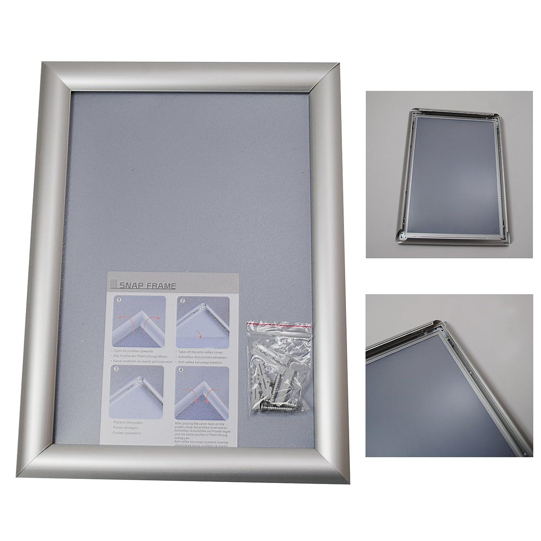 10 Stück DIN A4 Aluminium KLAPPRAHMEN Plakatrahmen Wechselrahmen ...