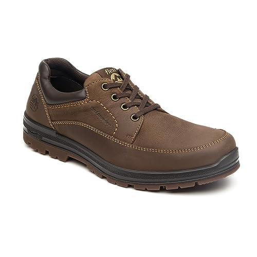 Shoes Para Senderismo Hombre Botas De Flexi Piel Marrón nZCqdTwT8S