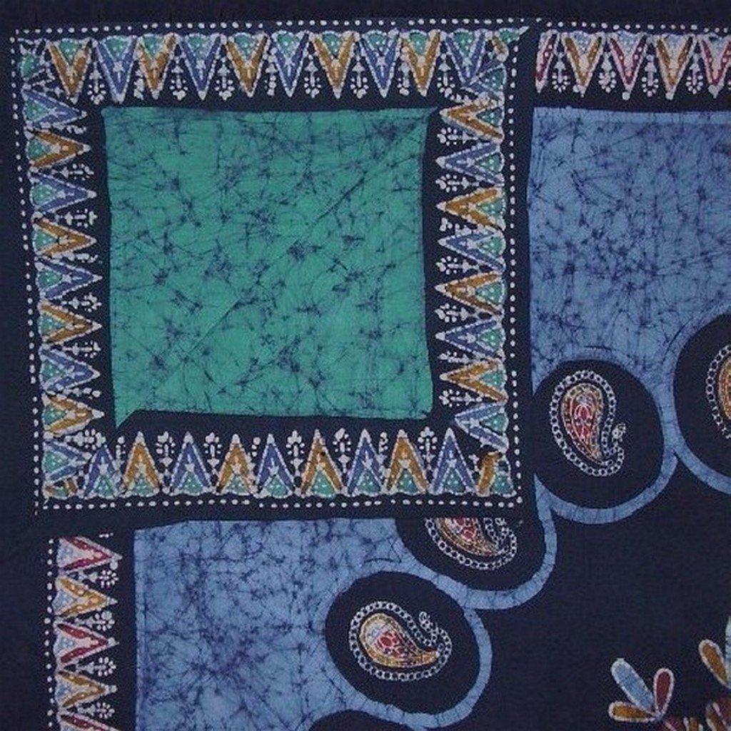 """Authentic Batik Reversible Duvet Cover Cotton 92"""" x 88"""" Fits Full-Queen Multi Color"""