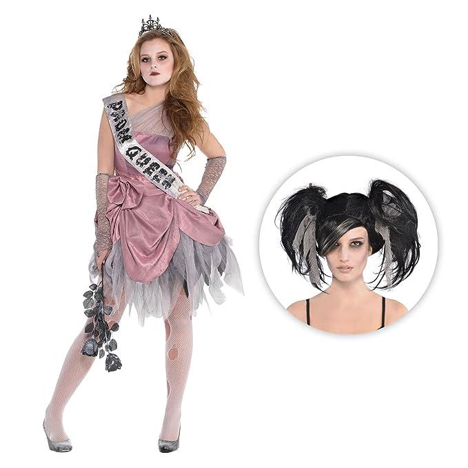 Tights Girls Fancy Dress Wonderland Horror Kid Childs Costume New Alice Zombie