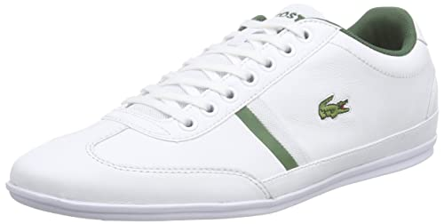 Fashion Lacoste Misano Sport White/Green Classic Men Shoes